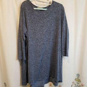 Joan Vass 3/4 length sleeve tunic plus top
